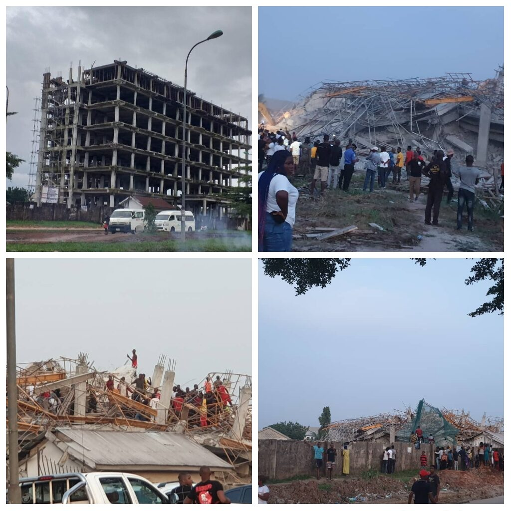 High rising building collapsed in Owerri